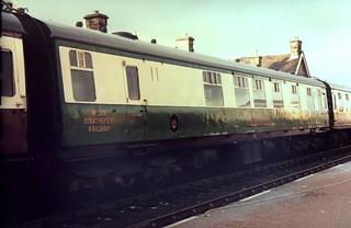 89-031  Ex-BR Class 126 RB Trailer No 105 'Glenfiddich' at Boat of Garten