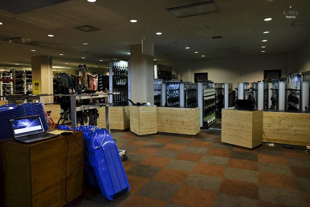 Ski rental store