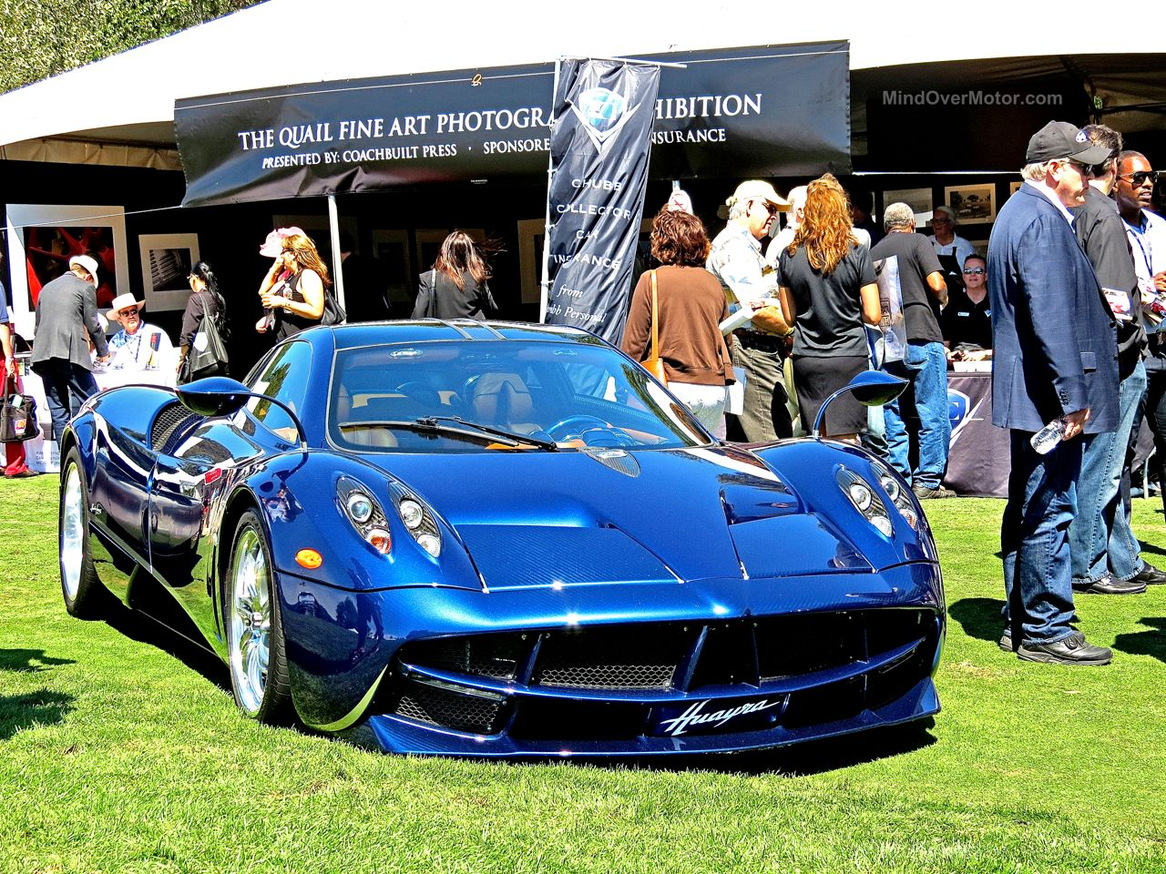 Pagani Huayra Blue Carbon The Quail 1