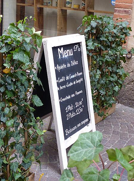 menu montauban