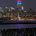 Empire State Building lights up in blue and red in honor of the Big East Conference and Men's Basketball Tournament_ by NYC♥NYC