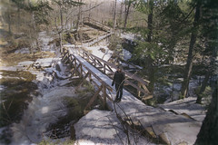 Ice covered walkway @ Smalls Falls