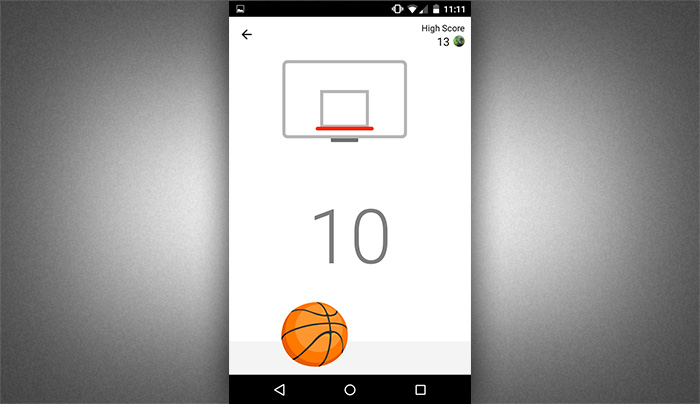Play Basketball in facebook messenger