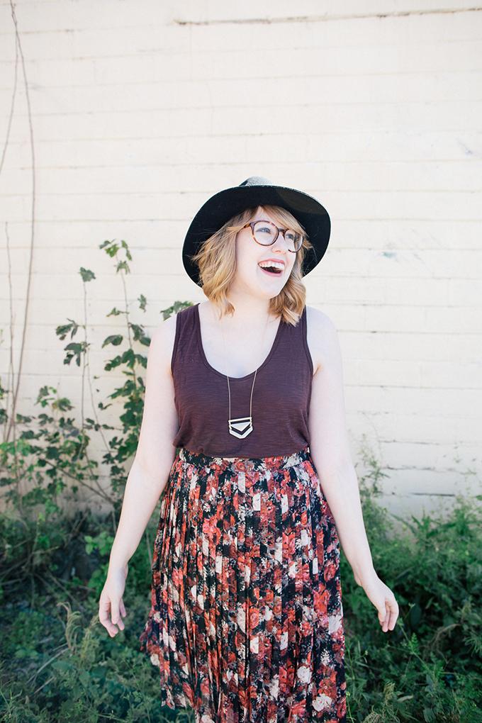 burgundy tank floral skirt2