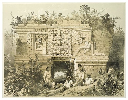 006- Parte de la casa de las monjas en Uxmal-Views of ancient monuments in Central America…1844- F. Catherwood