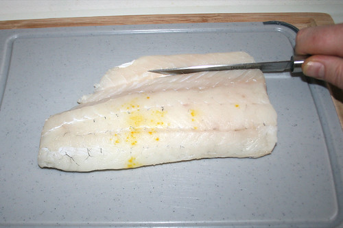 40 - Fischfilet zuschneiden / Cut fish filet to size