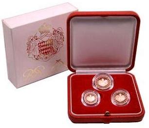 1, 2 a 5 centov Monako 2005, v krabičke