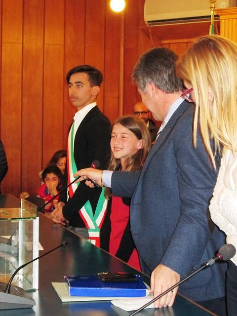 consiglio comunale ragazzi il discorso del vicesindaco Maria Francesca Palumbo