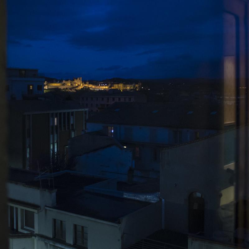 La Cité de Carcassonne la nuit