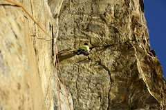 The 8a+ roof crack in the third pitch