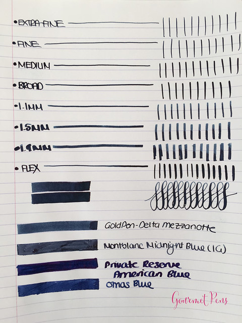 Ink Shot Review Goldpen Mezzanotte Blue-Black (3)