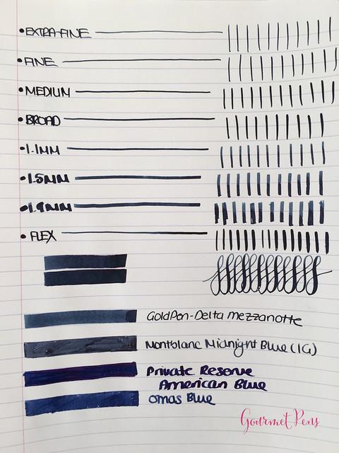 Ink Shot Review Goldpen Mezzanotte Blue-Black (3)