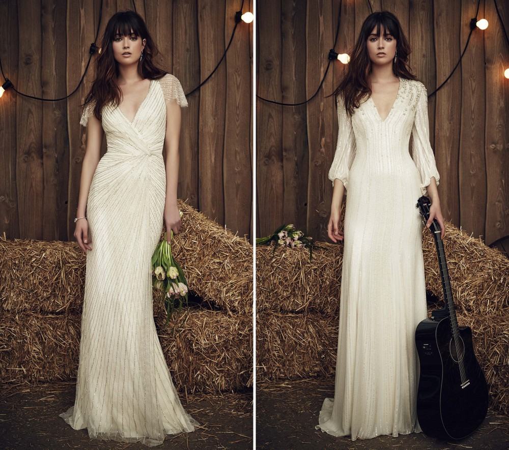 Jenny Packham Bridal Spring 2017 Collection, Bohemian Wedding Dress