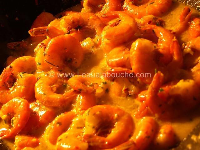 Crevettes au Safran Flambées au Rhum © Ana Luthi Tous droits réservés 002