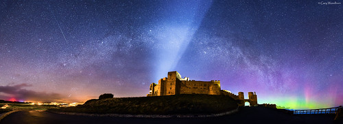 Night Lights - Milky Way, Bamburgh Castle, Northumberland
