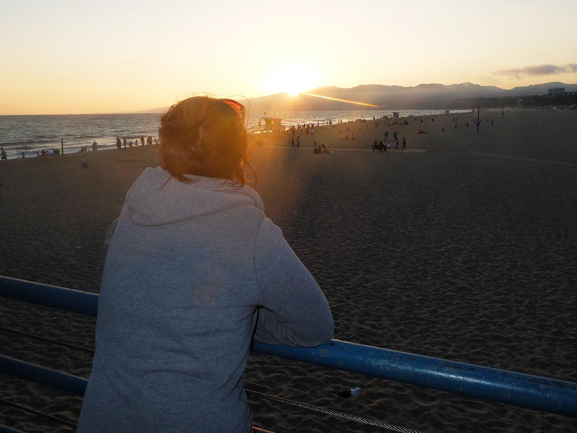 Plage Santa Monica Californie