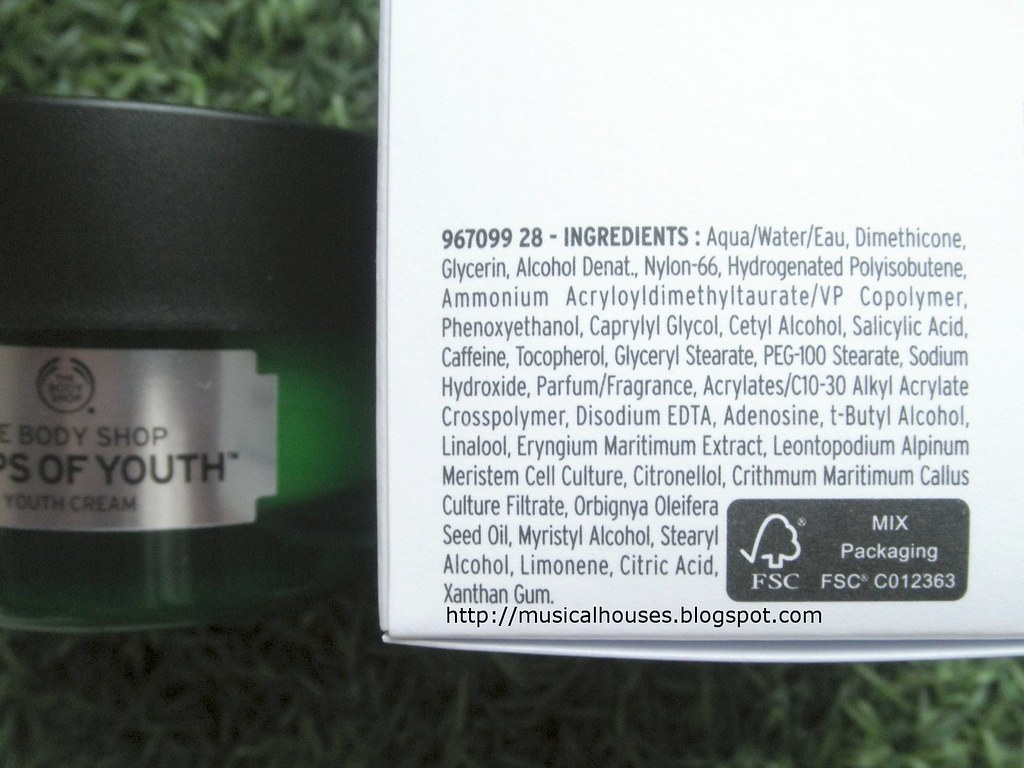 The Body Shop Drops of Youth Cream Ingredients