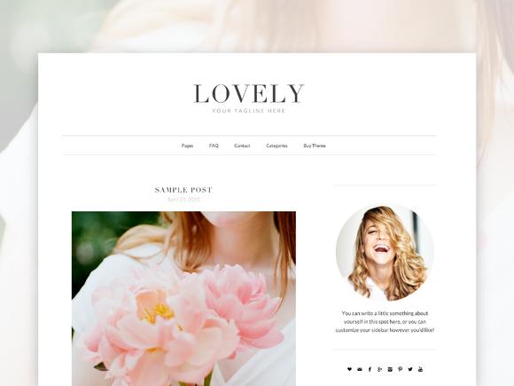 Creativemarket Responsive WordPress Theme – Lovely v1.0