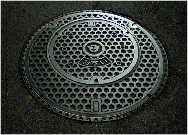 MANHOLE COVER IN A MANHOLE COVER