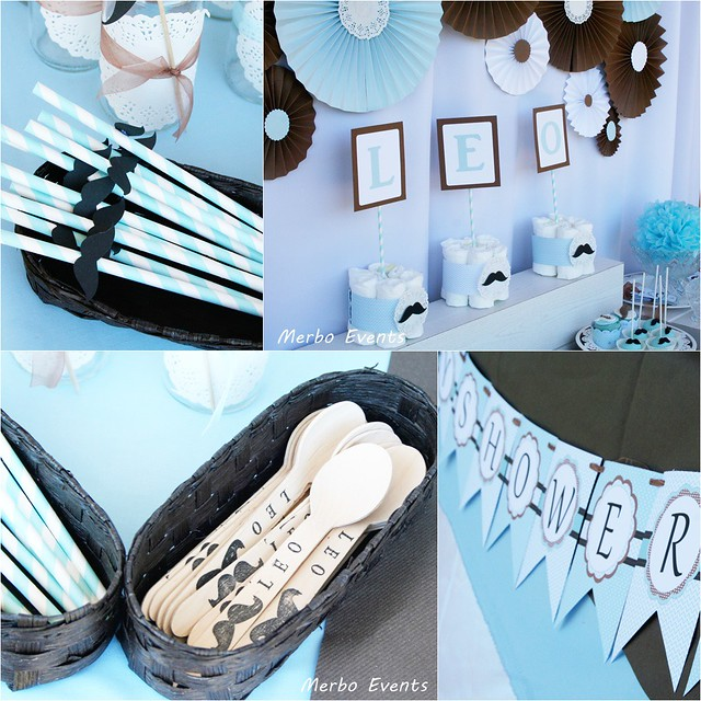 moustache babyshower  por Merbo events
