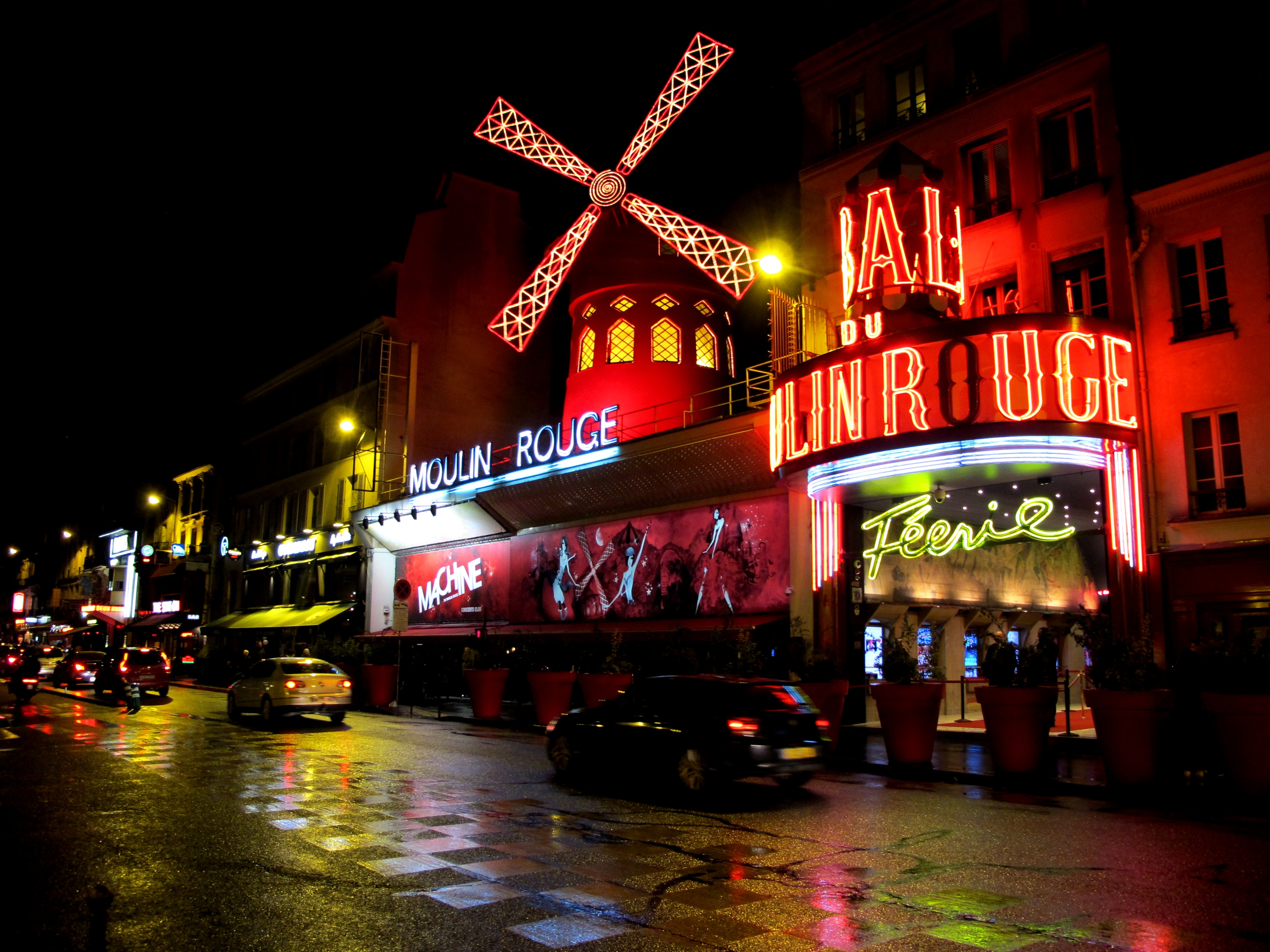Experience a cabaret spectacular at the Moulin Rouge