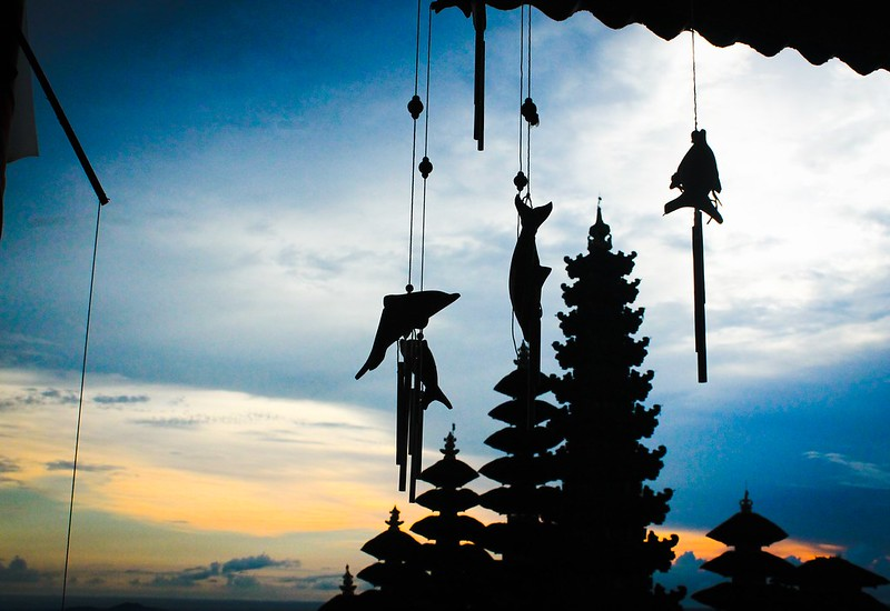Dusk at Besakih temple