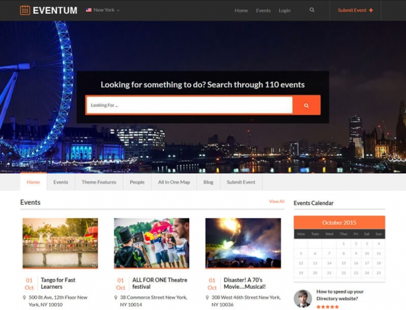 Templatic Eventum v1.0.1 – Events Directory WordPress Theme