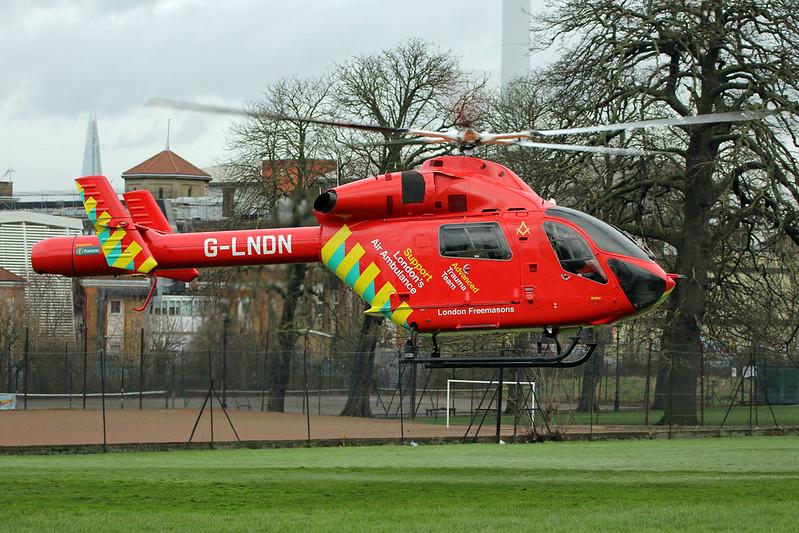 London's Air Ambulance in Ruskin Park