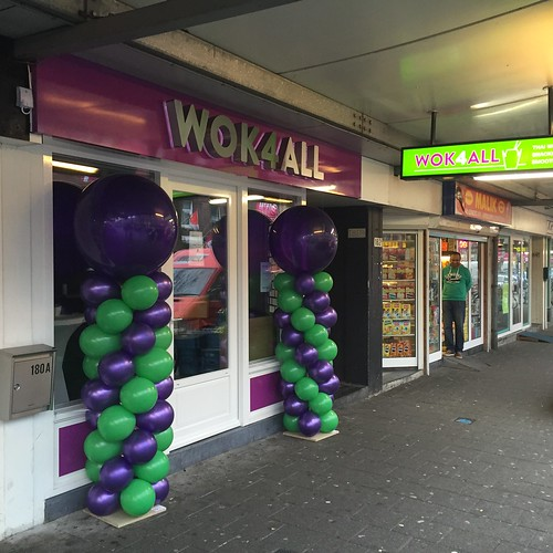 Ballonpilaar Breed Rond Opening Wok4all Groene Hilledijk Rotterdam