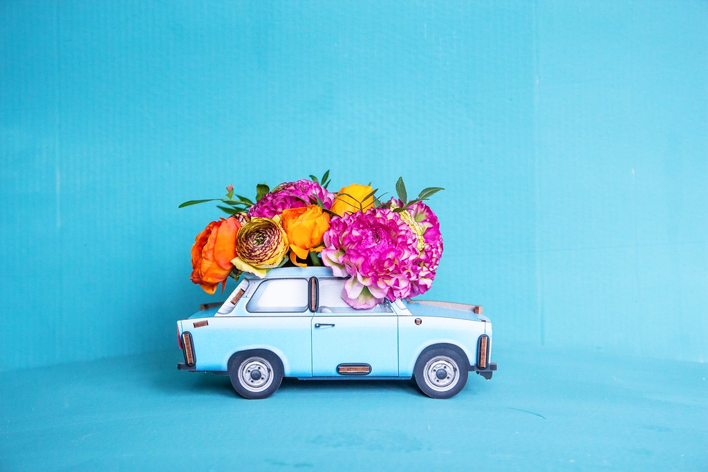 carwithflowers