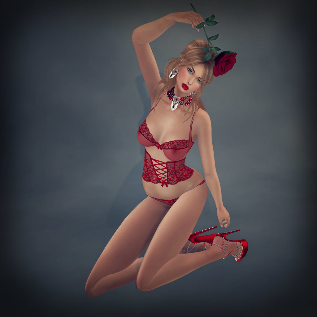Jane, Valentine's Red lingerie, Carries Lingerie