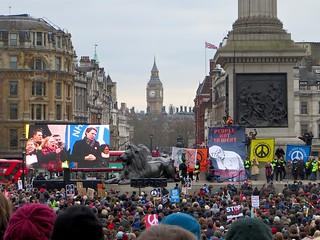 Stop Trident national demo, Trafalgar Square, London, Feb. 27, 2016