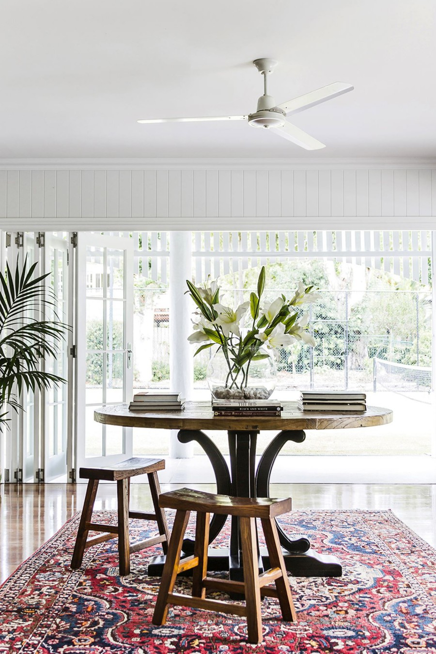 Hamptons Style Home, australian house and garden, hamptons style, marble tiles, maree homer, queenslander, subway tiles, trebilcock and associates architects, wood floor