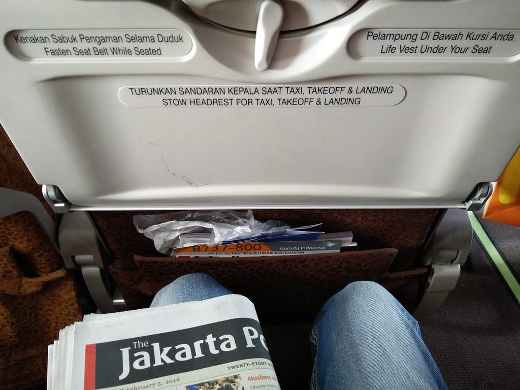Legroom on the flight