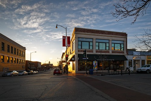 Notley Hawkins Photography, Downtown Columbia Missouri, Kaldi's Coffee, architecture, Sunset, Alley A Real Estate