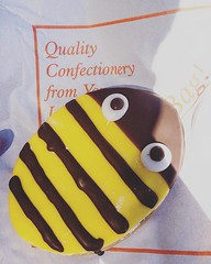 Bumble bee biscuit from Warsop...