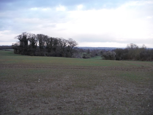 Views into Bedfordshire and route of descent to Linslade