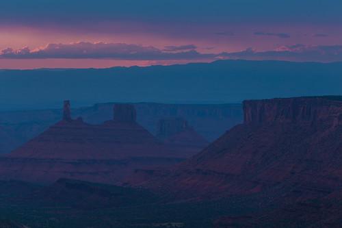 sunset mountains utah us unitedstates moab