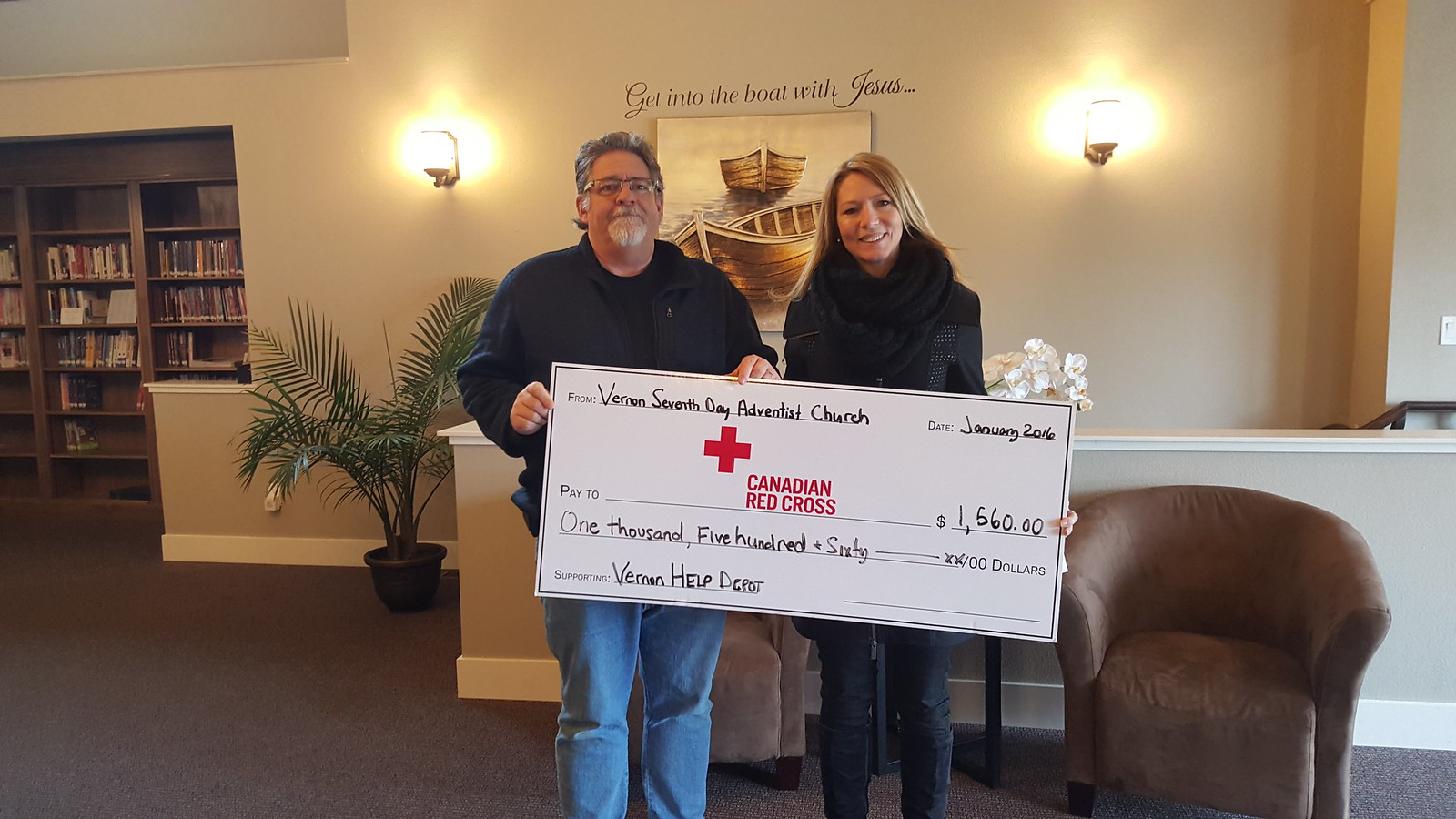 Red Cross cheque