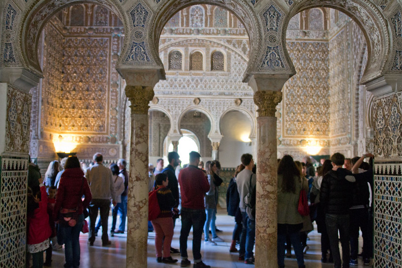 Looking into the Hall of Ambassadors, Alcazar of Seville, Spain | packmeto.com