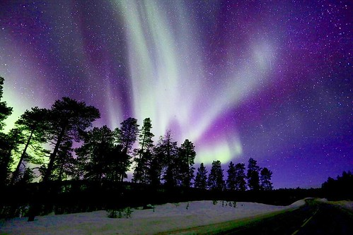FINLAND: So this happened AGAIN last night. Who said Monday nights are boring? Last nights aurora was soo spectacular I couldn't stay up all night to watch it. They appeared from 9:30pm and when I was in bed at 3am, they were still going.  It was our last