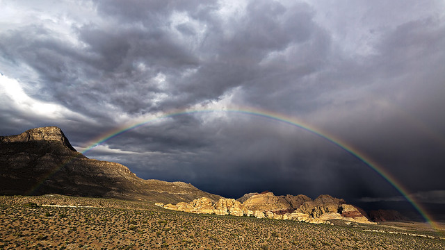 02469064-75-Rainbow in Red Rock Canyon-1-HDR