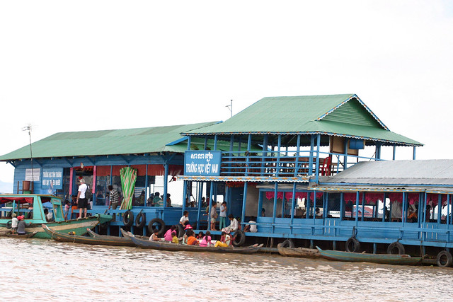 School, Tonle Sap Floating, Canon EOS DIGITAL REBEL, Canon 70.0-300.0 mm