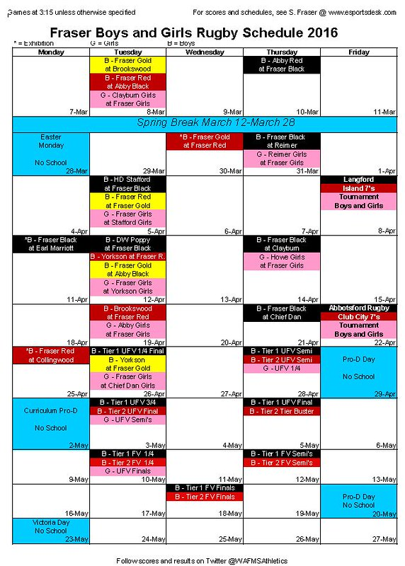 rugby schedule