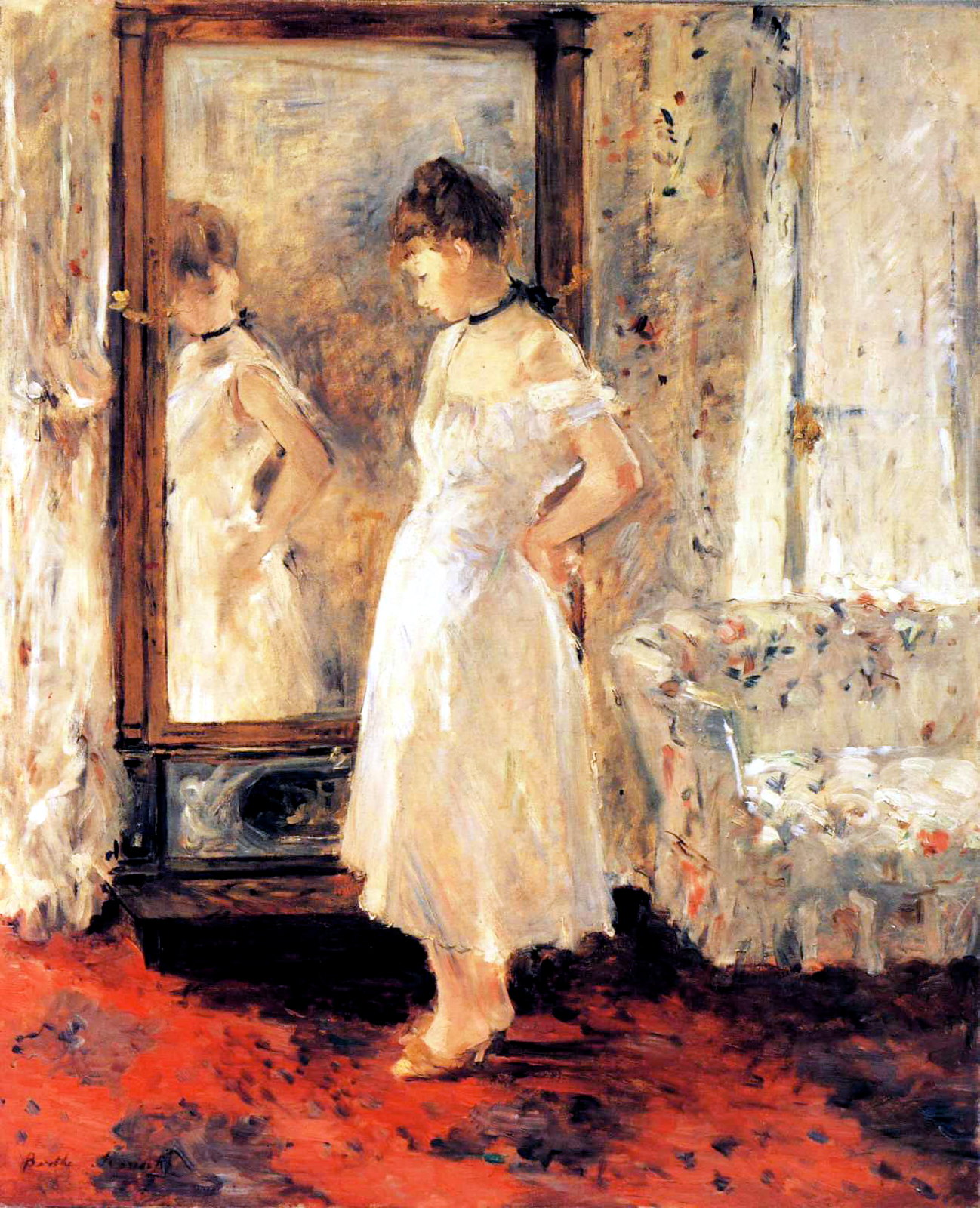 Psyché by Berthe Morisot, 1875