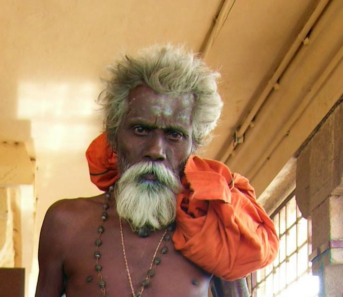 Sadhu en el Rock Fort de Trichy