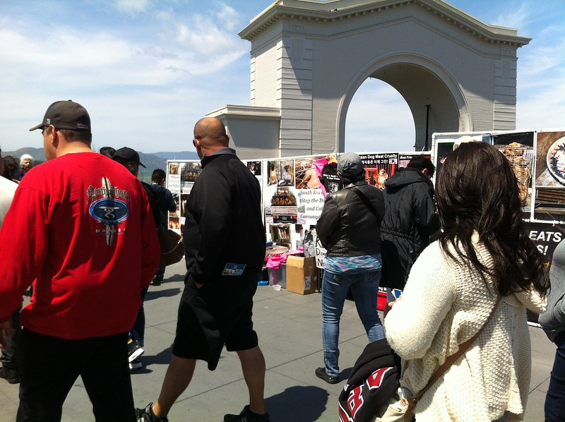 Leafleting and Informational Event on South Korean Dog Meat Trade – April 24, 2016 – San Francisco, Fisherman's Wharf