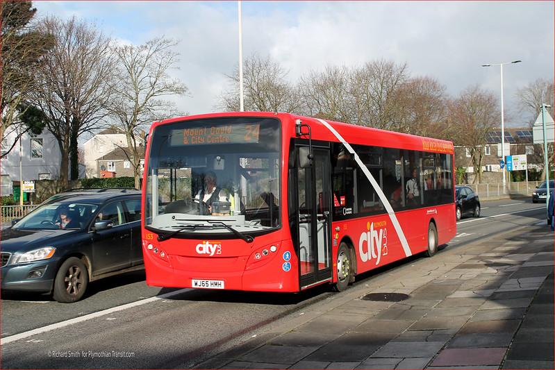 Plymouth Citybus 153 WJ65HMH