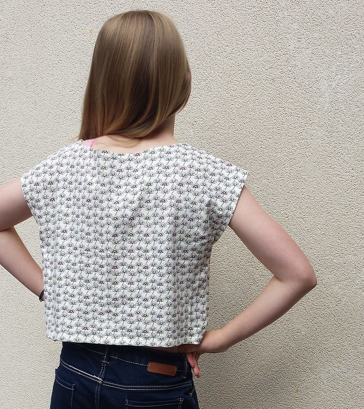 Simplicity 1124 top in cotton knit
