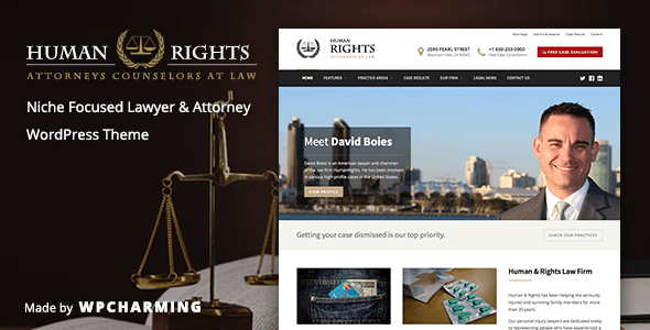HumanRights v1.1.2 - Lawyer and Attorney WordPress Theme
